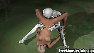 Hot 3D babe getting licked and fucked by an alienhigh 1