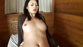 Risa gets creampie to the fullest extent a finally sitting sex