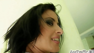 Pest Province Getting her ass filled with 2 cocks in her anal debut